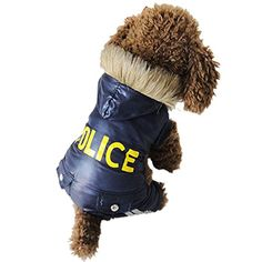 New Design Four Legs Police Style cat Dogs Coat Dogs Clothing^.L -- Unbelievable cat item right here! : Cat sweater