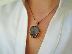 unique etsy jewelry  Druzy Pendant Druzy Necklace by ebrukjewelry