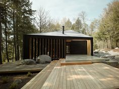Set deep within the lake-filled Canadian woods, this detailed retreat by MacLennan Jaunkalns Miller Architects is made all the more impressive by the fact that it's the firm's first...