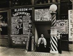 Store front windows . Vintage New York