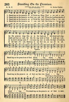 """Standing on the Promises"" sung by Cleveland Baptist Church, Sunday night, February See words below. Standing on the promises of Christ my King T. This Is Gospel Lyrics, Gospel Music, Music Lyrics, Music Songs, Hymns Of Praise, Praise Songs, Worship Songs, Church Songs, Church Music"