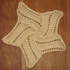 Entrelac Star intructions #afs #free #knitting patterns