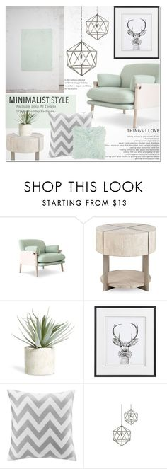 """""""Minimalist Home"""" by dian-lado ❤ liked on Polyvore featuring interior, interiors, interior design, home, home decor, interior decorating, Allstate Floral, Intelligent Design, Jayson Home and Amara"""