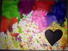 Crayon art (makes a mess!)