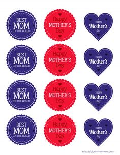Free Printable Mother's Day Cupcake Toppers