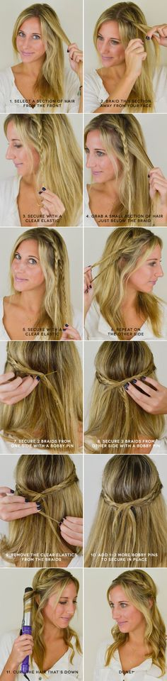easy hair styles for hair 1000 ideas about braided half up on half up 1635