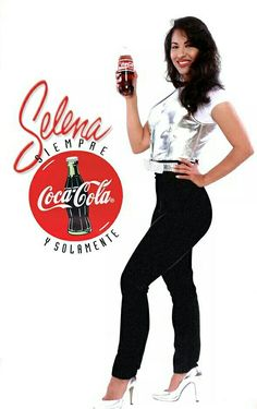 Selena with Coca-Cola one of her main sponsors
