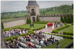 Brittany Chris Wedding In A Castle Courtyard Overlooking The Rolling Hills Of Central