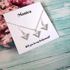 Gifts For Wedding Party, Bridal Gifts, Party Gifts, Bridesmaid Jewelry, Bridesmaid Gifts, Wedding Jewelry, Beautiful Gifts For Her, Amazing Gifts, Wedding Necklaces