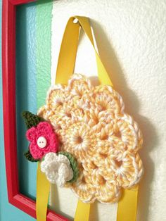 Crochet bow holder... oh I can make this! Yes!!