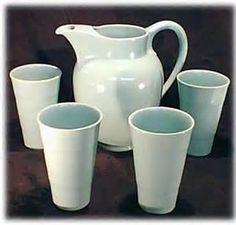 California pottery 1930s Gladding McBean El Patio Ice Tea set Vintage Pottery, Vintage Ceramic, Vintage California, Kitchen Ware, Patio Table, Tea Set, 1930s, Beverage, Dinnerware