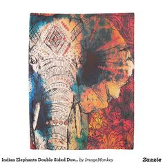 Indian Elephants Double Sided Duvet Cover