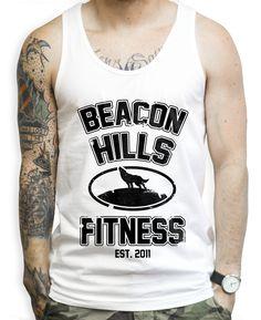 Beacon Hills Fitness on a Unisex Tank Top