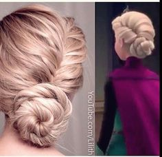 Elsa  from Frozen hairstyle