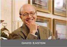 "DAVID EASTON - The first impact I had of the ""design world"" was spending summers at my grandmother's house outside of Chicago and going to Marshall Fields & Co'S 8th floor where, as a child, I could get off the escalator look across a small garden into a house beyond and walk into that house with a Living Room, Dining Room, Bedroom etc. which was a fantasy for me and still remains what I feel a direct impact – and part fantasy obviously."