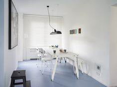 Functionals Lloyd Table & Bench with Luftschiff at Thomas Eurlings's place http://functionals.eu/products/lights/luftschiff