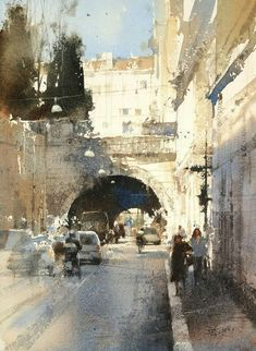 【All roads lead to Rome / 條條大路通羅馬】37 x 27 cm Watercolor by Chien Chung Wei 簡忠威 2016.6.7