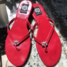 Red Patent Sandals