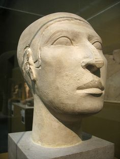 """""""Reserve head"""" of Nofer From Giza, tomb G 2110 A Dynasty 4, 2606-2575 B.C. Limestone"""