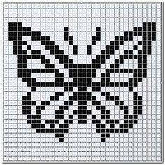 Кайма с бабочками крючок схема 2