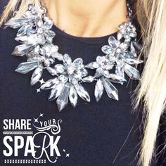 Sparkling necklace by Angelina heart Made follow @angelina pilarski on instagram and like us on Facebook  Angelina heart Made