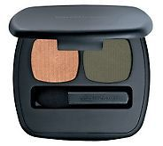 """Bare Escentuals Ready Duos. I love the """"Paradise Found"""" duo. It is the perfect """"ambery"""" all over color and the dusty olive is in the crease of the eye really makes your eye color pop!  #Makeup"""