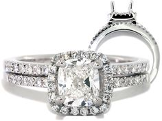 360624 Prong Set Diamond Engagement Ring and Wedding Band Set $2,879
