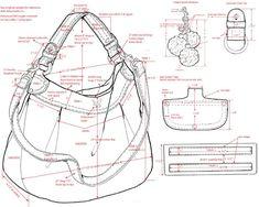 Handbag Chart Sketch Shoulder Bag