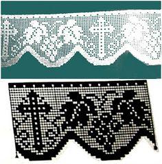 MIRIA CROCHÊS E PINTURAS: BARRADOS DE CROCHÊ COM MOTIVOS RELIGIOSOS N°349