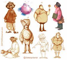 DATTARAJ KAMAT Animation art: A few more character designs