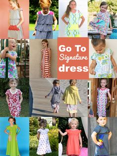Dress Dress Dress! Go To Signature Dress sewing pattern for girls 12 mo-12 yrs