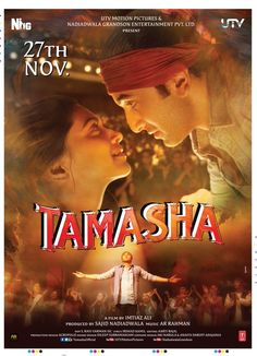 "Check out the new poster of Ranbir Kapoor and Deepika Padukone's ""Tamasha"""