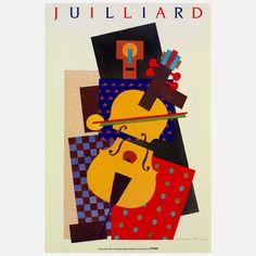 Julliard Cubist Violin 1991  by Milton Glaser