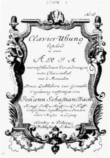 Variaciones Goldberg, BWV 988 - Wikipedia, la enciclopedia libre