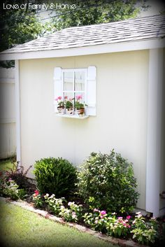 Love Of Family & Home: Easy DIY Shutters for the Shed...