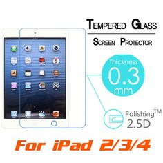 "For Apple iPad 2 3 4 Gen 9.7"" Tablet Tempered Glass Screen Film Protector Cover"