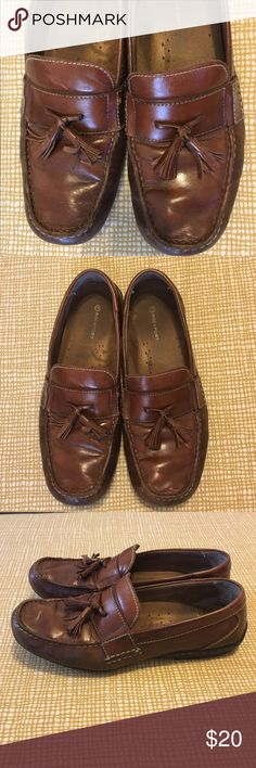 Used Rockport Brown Loafers Size 10.5 Shows are well worn. Soles are worn out on the heel. Rockport Shoes Loafers & Slip-Ons
