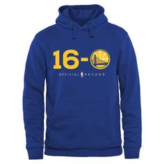 Men's Golden State Warriors Royal 16-0 Pullover Hoodie #H16t0RY