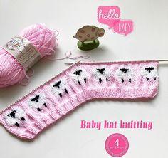 33 Ideas crochet cat beanie pattern free knitting for 2019 Knitting Charts, Baby Knitting Patterns, Knitting Stitches, Baby Patterns, Hand Knitting, Knitted Baby Clothes, Hand Knitted Sweaters, Knitted Hats, Crochet Baby