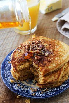 Whole Grain Honey Cornmeal Pancakes - my new favorite!