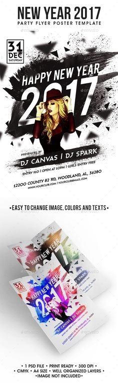 219 best New Year Party Flyer Templates images on Pinterest | Event ...