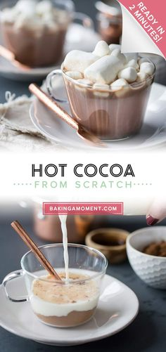 Best tasting hot cocoa ever, and so simple to make! I did this in my microwave- took just over a minute, and I had all the ingredients already on hand. #hotcocoa #hotchocolate #easy #recipe #microwave Hot Cocoa Recipe, Cocoa Recipes, Chocolate Cake Recipe Easy, Easy Cake Recipes, Chocolate Flavors, Drink Recipes, Hot Chocolate, Beverages, Drinks