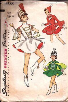 1950s Simplicity 4866 Vintage Pattern Girl Majorette