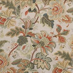Dixie Jade by Magnolia Fabric our website for purchase 55 Linen 45 Rayon CHINA Horizontal: and Vertical: - Fabric Carolina - Pillow Fabric, Drapery Fabric, Pillows, Curtains, Fabric Patterns, Textures Patterns, Floral Fabric, Floral Prints, Fabric Design