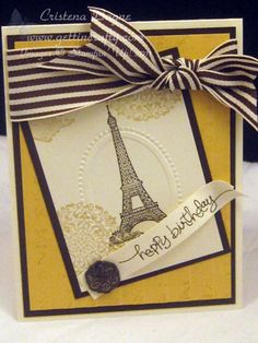 Cute! This frame embossing folder is free until March 31st with a $60 Stampin' Up! purchase! http://sarahhealey.stampinup.net