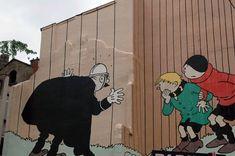 Street Art in Brussels Murals Street Art, 3d Street Art, Street Artists, Graffiti Art, Wonder Art, Sidewalk Art, Amazing Street Art, Popular Art, Expo