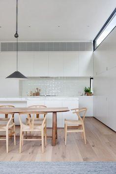 Witte keuken in Scandinavische stijl