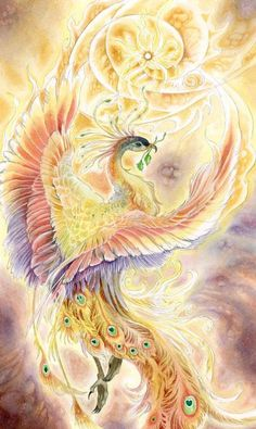 Stephanie Pui-Mun Law - Shadowscapes I love her artwork. This Phoenix is lovely. Mythological Creatures, Fantasy Creatures, Mythical Creatures, Fantasy Kunst, Fantasy Art, Tattoo Dragon And Phoenix, Phoenix Wings, Dragon Tattoos, Family First Tattoo