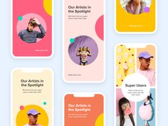 """""""Nice colors"""" - The Collection 😅 by Aqeela Valley for Over on Dribbble Instagram Design, Free Instagram, Instagram Layouts, Social Media Template, Social Media Design, Over App, Web Design, Layout Design, Mobile App Design"""
