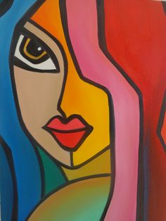 Cubism Art, Abstract Face Art, Original Abstract Art Painting, Art Drawings, Abstract Painting, Art, Painting Art Projects, Mosaic Art, Pop Art